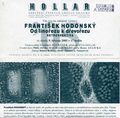 František Hodonský: Od linořezu k dřevořezu