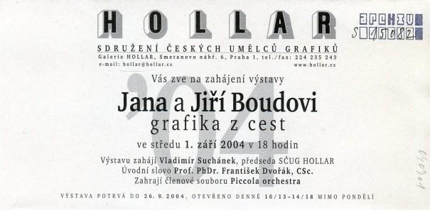 Jana a Jiří Boudovi: Grafika z cest
