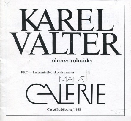 Karel Valter: Obrazy a obrázky
