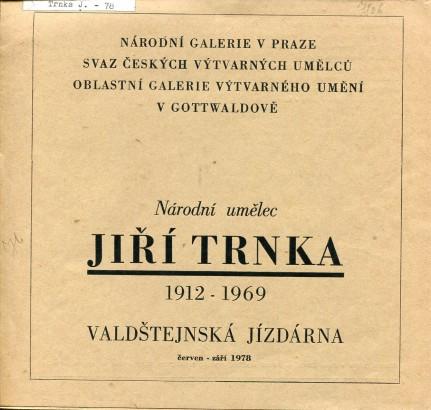 Národní umělec Jiří Trnka 1912 - 1969