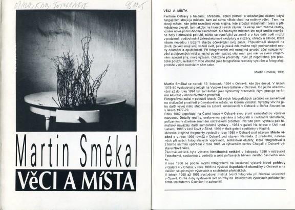 Martin Smékal: Věci a místa
