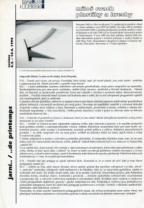 Miloš Cvach: Plastiky a kresby / Sculptures et dessins