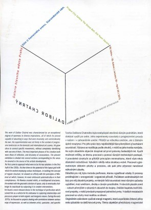 Dalibor Chatrný: Vidět svět jinak / Seeing the World Otherwise