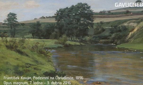 František Kaván, Podzimní na Chrudimce, 1896