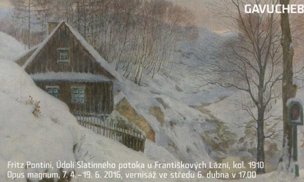 Fritz Pontini, Údolí Slatinného potoka u Františkových Lázní, kol. 1910