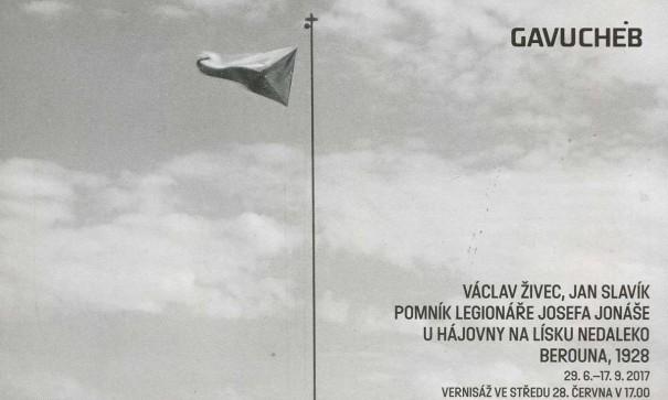 Václav Živec, Jan Slavík: Pomník legionáře Josefa Jonáše u hájovny Na Lísku nedaleko Berouna, 1928