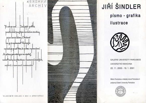 Jiří Šindler: Písmo, grafika, ilustrace