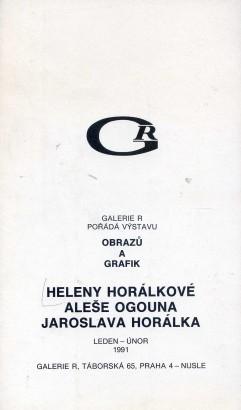 Helena Horálková, Aleš Ogoun, Jaroslav Horálek: Obrazy a grafiky