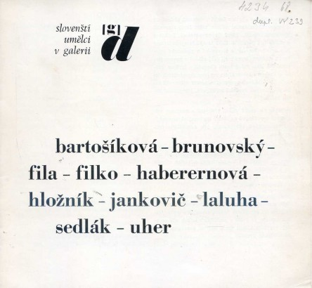 Slovenští umělci v galerii d