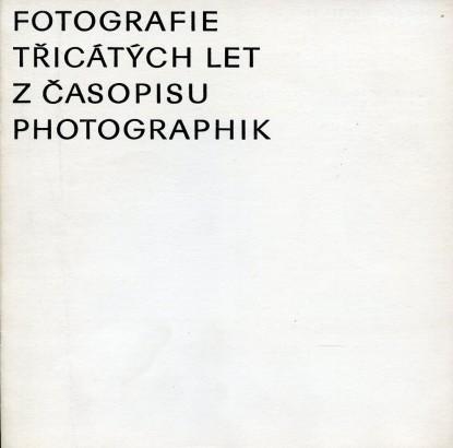 Fotografie třicátých let z časopisu Photographik