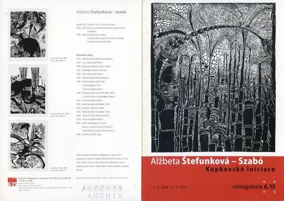 Alžběta Štefunková - Szabó: Kupkovské iniciace
