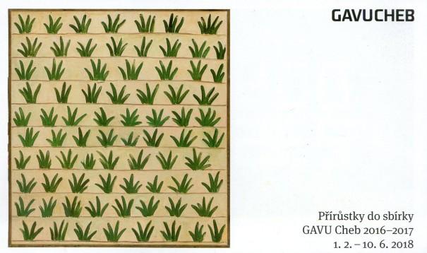 Přírůstky do sbírky GAVU Cheb 2016-2017