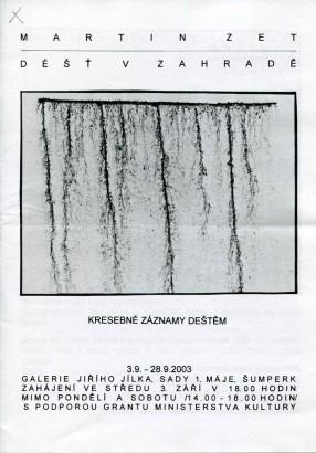 Martin Zet: Déšť v zahradě