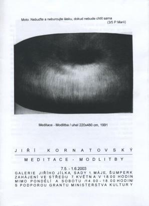 Jiří Kornatovský: Meditace - modlitby
