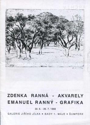 Zdenka Ranná - akvarely, Emanuel Ranný - grafika