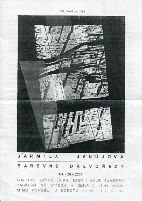 Jarmila Janůjová: Barevné dřevořezy