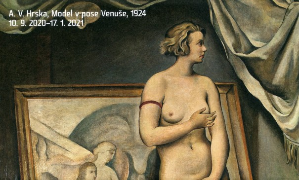 A. V. Hrska: Model v pose Venuše, 1924