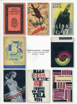 Pohled do Archivu 13 - typografie
