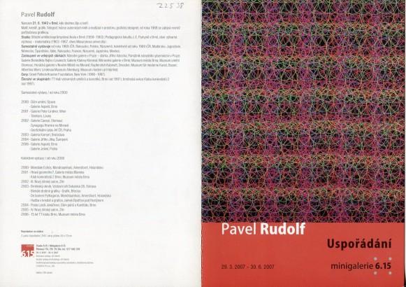 Pavel Rudolf: Uspořádání