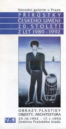 Přírůstky českého umění 20.století z let 1989-1992