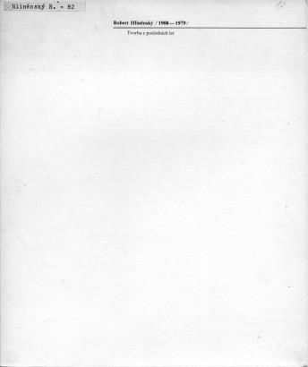 Robert Hliněnský: Tvorba z posledních let