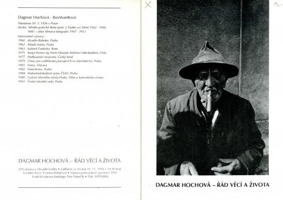 Dagmar Hochová: Řád věcí a života