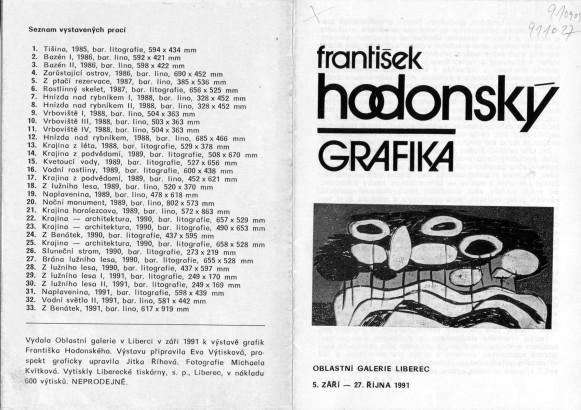 František Hodonský: Grafika
