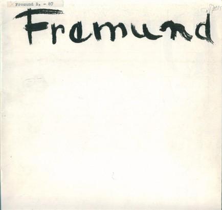 Richard Fremund (1928-1969): Obrazy, kresby a grafiky