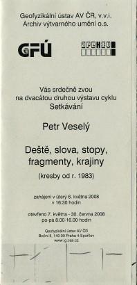 Petr Veselý: Deště, slova, stopy, fragmenty, krajiny (kresby od r. 1983)