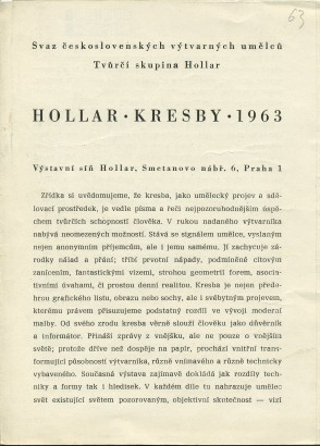 Hollar; Kresby; 1963