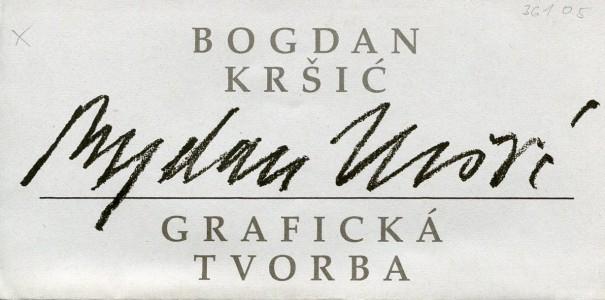 Bogdan Kršić: Grafická tvorba