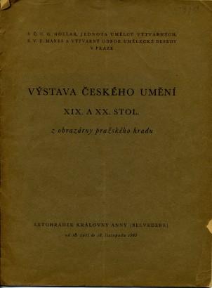 Výstava českého umění XIX. a XX. stol. z obrazárny pražského hradu