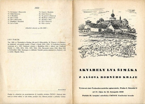 Akvarely Lva Šimáka z Alšova rodného kraje