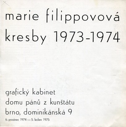 Marie Filippovová: Kresby 1973-1974