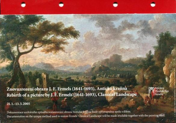 Znovuzrození obrazu J. F. Ermels (1641 - 1693), Antická krajina / Rebirth of a picture by J. F. Ermels (1641 - 1693), Classical Landscape
