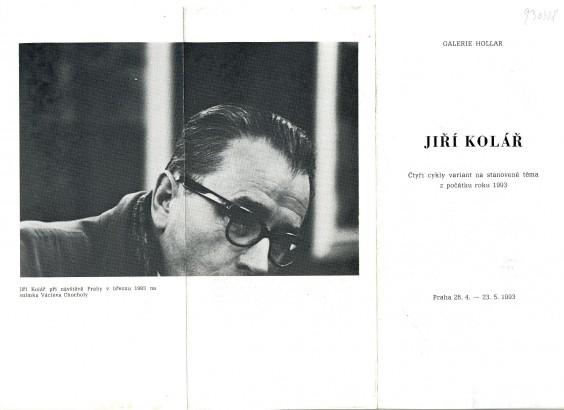 Jiří Kolář: Čtyři cykly variant na stanovené téma z počátku roku 1993
