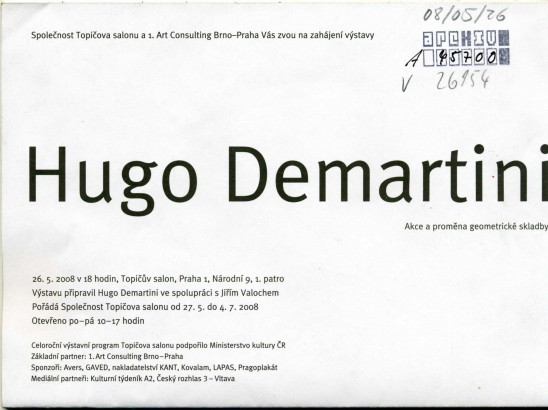 Hugo Demartini: Akce a proměna geometrické skladby