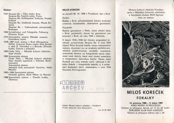 Miloš Koreček: Fokalky