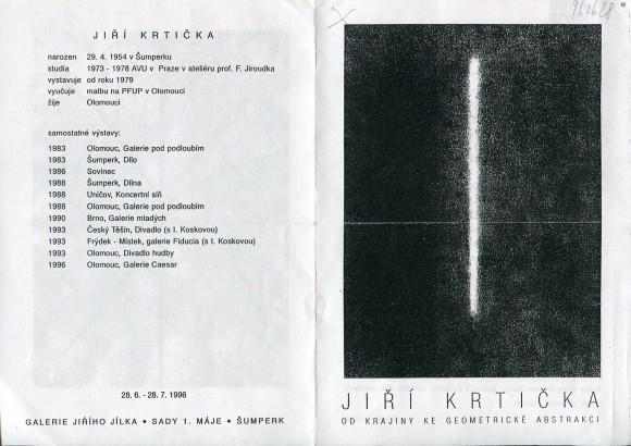 Jiří Krtička: Od krajiny ke geometrické abstrakci