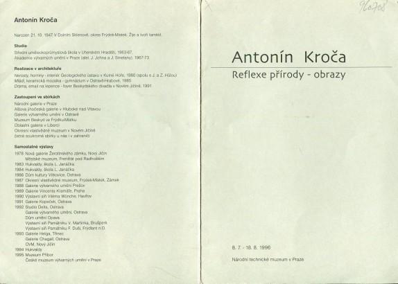 Antonín Kroča: Reflexe přírody - obrazy