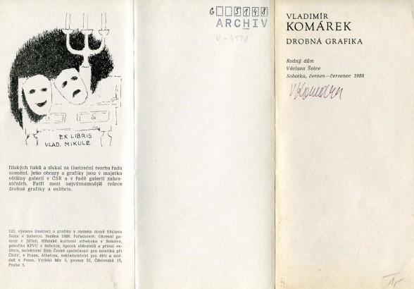 Vladimír Komárek: Drobná grafika