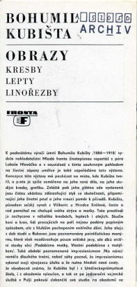 Bohumil Kubišta: Obrazy, kresby, lepty, linořezby