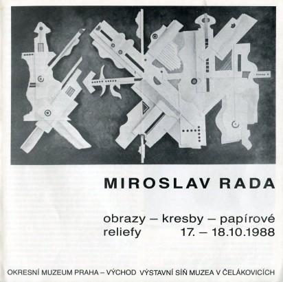 Miroslav Rada: Obrazy - kresby - papírové reliéfy