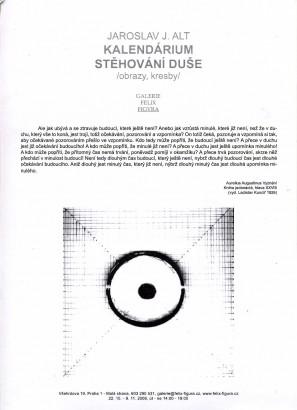 Jaroslav J. Alt: Kalendárium / Stěhování duše
