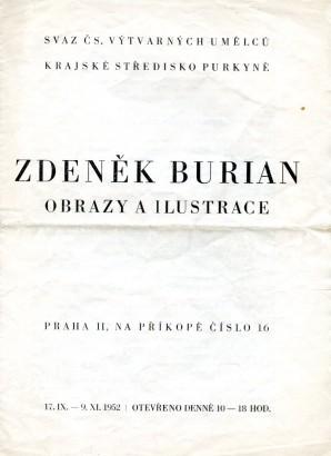 Zdeněk Burian: Obrazy a ilustrace