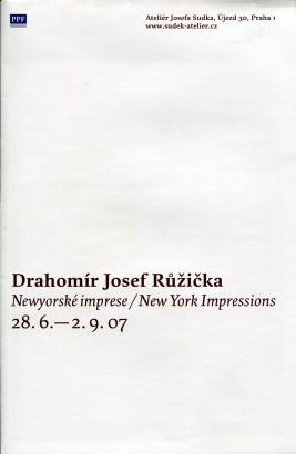 Drahomír Josef Růžička: Newyorské imprese / New York Impressions