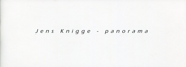 Jens Knigge: panorama