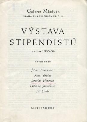Výstava stipendistů z roku 1955-56