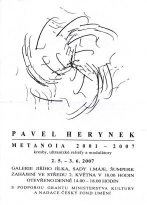 Pavel Herynek: Metanoia 2001 - 2007