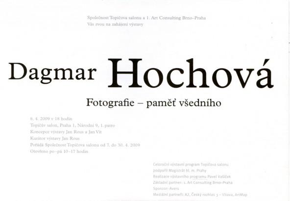 Dagmar Hochová: Fotografie - paměť všedního